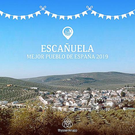 Escañuela en Jaén elegido El Mejor Pueblo 2019