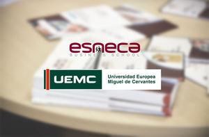 Esneca firma un acuerdo de colaboración con la Universidad Europea Miguel de Cervantes