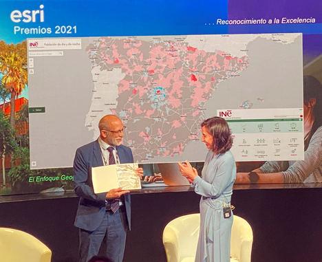 El INE recibe el mayor reconocimiento internacional por el uso de tecnología geoespacial durante la Conferencia Esri España 2021