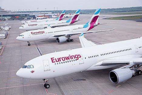 Eurowings lanza una nueva ruta Zurich - Palma de Mallorca este verano
