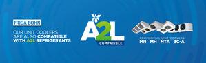 Evaporadores comerciales estándar compatibles con refrigerantes A2L