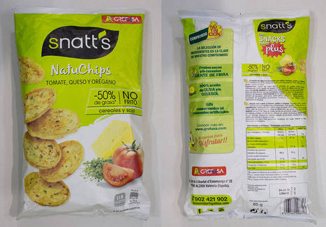 FACUA denuncia a Grefusa por ofrecer información engañosa en su línea de aperitivos Snatt's
