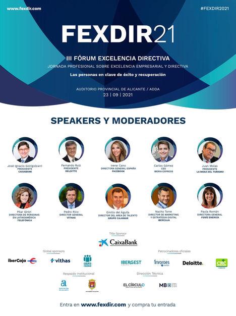 Juan Molas, Carlos Gómez, Pilar Girón y Paula Román confirman su participación en FEXDIR 2021