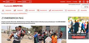 Fundación Mapfre pone en marcha su campaña de ayuda en emergencias para Perú
