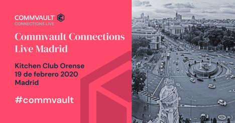 El próximo 19 de febrero llega a Madrid la tercera edición de Commvault Connections Live