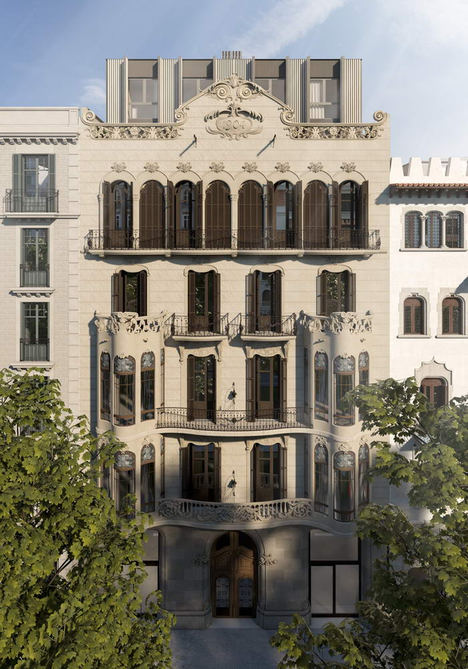 Se inicia la construcción de 18 viviendas de lujo en el histórico edificio modernista Casa Dolors Alesan de Barcelona