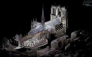 Faro Focus S utilizado en la reconstrucción de Notre Dame