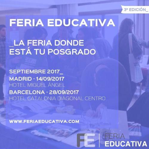 Feria educativa 2017 vuelve en septiembre con m s eventos for Ferias barcelona hoy