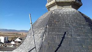 Finalizan las obras de reparación de los tejados de pizarra en la Iglesia de Orgaz (Toledo)