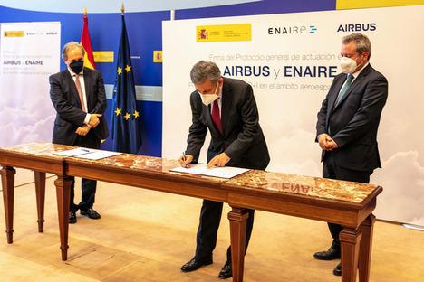 ENAIRE y AIRBUS unen fuerzas para desarrollar los servicios U-Space e impulsar la actividad de drones y aerotaxis en España