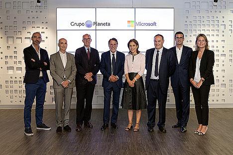 Grupo Planeta y Microsoft firman un acuerdo de colaboración para integrar metodologías activas en la educación digital