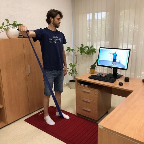 El servicio de rehabilitación online de Unión de Mutuas supera los 1.000 pacientes durante el estado de alarma