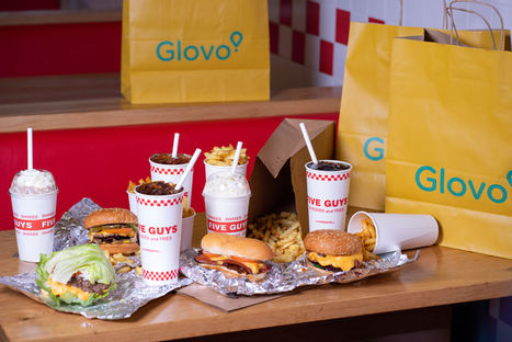 Five Guys y Glovo empiezan a colaborar en España