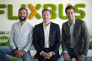 FlixBus fundadores.: D.Krauss, A.Schwämmlein, J.Engert.