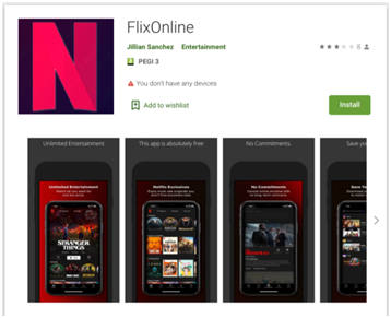 FlixOnline: una aplicación maliciosa para Android disfrazada de