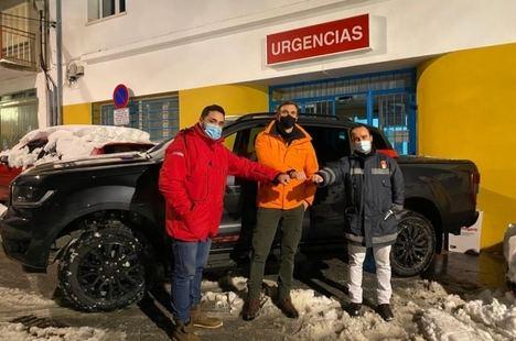 Ford España y el piloto Rubén Gracia, movilidad solidaria frente al temporal