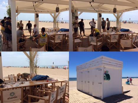 Castelldefels tiene hoy una playa más segura con desfibriladores en sus chiringuitos