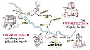 Éste es el nuevo recorrido de 'Magic Wine Tour', el autobús turístico del rioja
