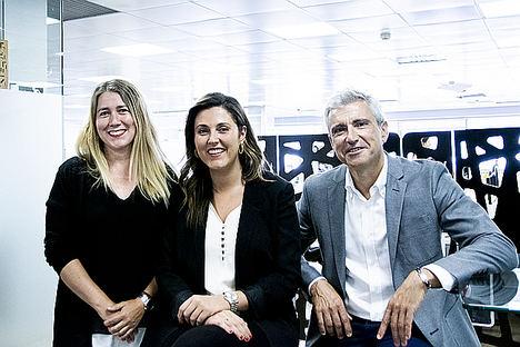 De izda. a dcha.: M.ª Ángeles Safont (Head of Digital), Beatriz Hernández y Jesús Vallejo (Director General Havas Media Levante).