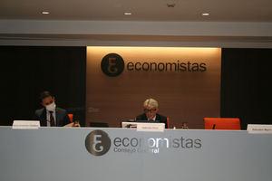 José Antonio Galdón, presidente del COGITI (dcha.) y Valentín Pich, presidente del CGE.