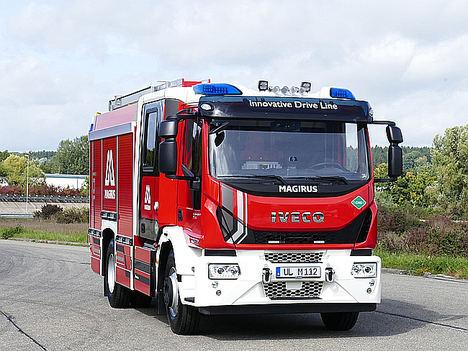 El vehículo Magirus equipado con el motor N60 NG de FPT Industrial.
