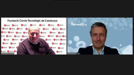 Francesc Bert, responsable de empresas de CTecno, y Juan Ignacio Sanz, director general y consejero delegado de Ibermática.