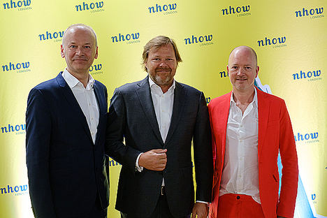 De izqda. a dcha.: Hermann Spatt (director general nhow London), Maarten Markus (director general Northern Europe), James Soane (Director de Proyecto Orange).