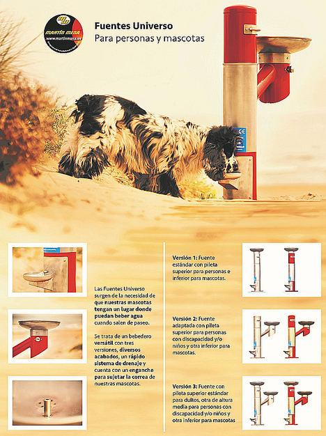 Las nuevas fuentes urbanas para beber Martín Mena, pensadas para público en general y sus mascotas