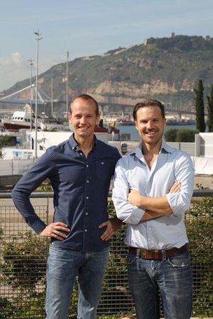 Fundadores de TestGorilla en Barcelona, Otto Verhage (izq) y Wouter Durville.