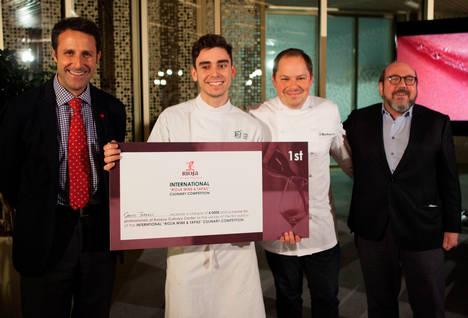 """El valenciano Carles Tarrasó gana el I concurso internacional """"Rioja Wine & Tapas"""""""