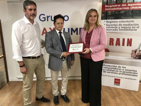La Comunidad de Madrid crea un sello para acreditar a los profesionales inscritos en el Registro de Agentes Inmobiliarios