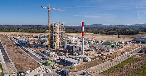 Greenalia completa el 80% de construcción de la segunda planta más grande de biomasa en España
