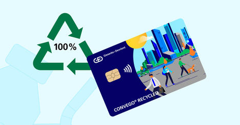 G+D suministra las nuevas tarjetas sostenibles de BBVA fabricadas con un 100% de PVC reciclado