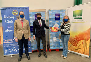 Galletas Gullón dona tres toneladas de galletas al Rotary Club Palencia