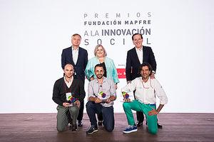Ganadores junto a Ignacio Baeza,  Ana Lima, y Antonio Huertas.