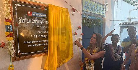Mary Kay España financia la construcción de una escuela para niños en la India, en colaboración con Fundación Vicente Ferrer
