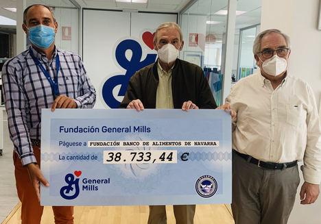 """La Fundación General Mills dona casi 40.000 euros a la """"Fundación Banco de Alimentos de Navarra"""" para apoyar a más de 25.000 personas"""