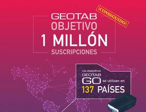 Geotab supera el millón de suscripciones de vehículos