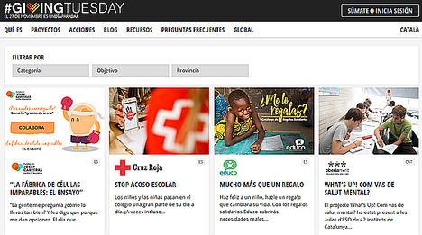 El movimiento de solidaridad #GivingTuesday ya suma 108 proyectos en España