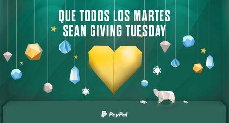 PayPal supera los 100 millones de dólares en donaciones este Giving Tuesday