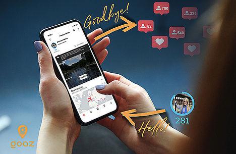 Goaz, la red social de viajeros, apuesta por el valor del contenido y acaba con la tiranía de los followers y del like