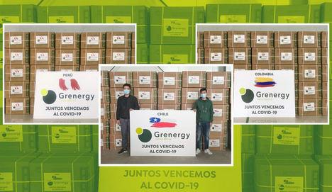 Grenergy dona 400.000 mascarillas para la lucha contra el coronavirus en Latinoamérica