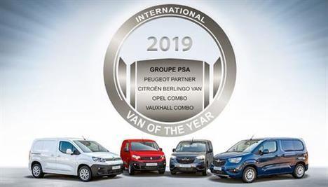 Los vehículos comerciales de Groupe PSA galardonados