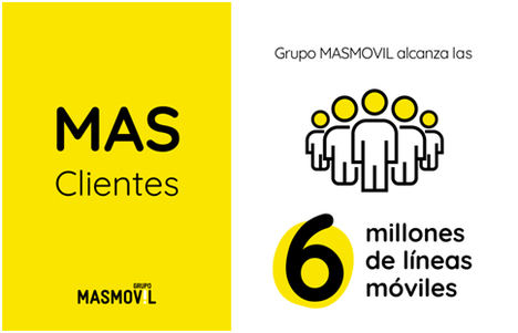 Grupo MASMOVIL supera los 6 millones de clientes de telefonía móvil