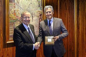 Miquel Valls, Presidente de la Cámara de Comercio de Barcelona y el Dr. Luis Donoso, Presidente del Comité Científico de Barcelona Salud.