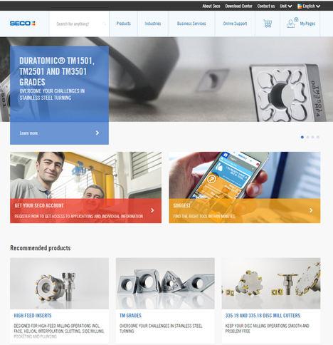 Los usuarios de la web de Seco Tools obtienen acceso a servicios online más avanzados y completos
