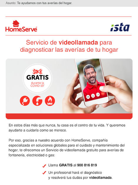 ISTA ofrece un servicio gratuito de diagnóstico y consulta de averías en el hogar mediante videollamada