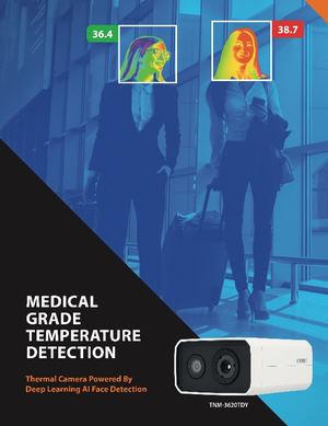 Hanwha Techwin presenta una cámara térmica de detección de temperatura certificada IEC 60601