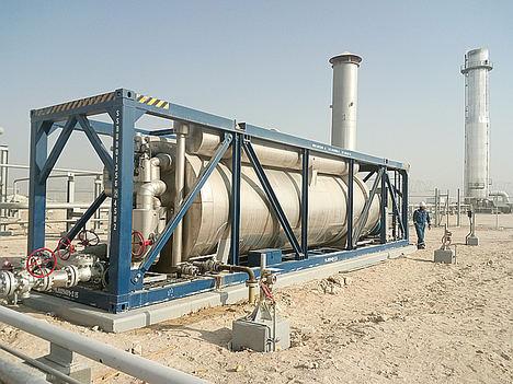 Heater planta petrolífera Al-Jahra, Kuwait.
