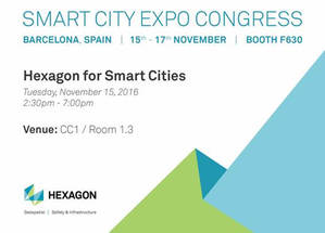 Hexagon SI vuelve a apostar por las ciudades inteligentes en Smart City Expo WorldCongress 2016